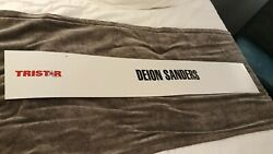 Neon Delon Sanders Banner Sign Used @ The 2019 National Sports Collectors ⚾ 🏈