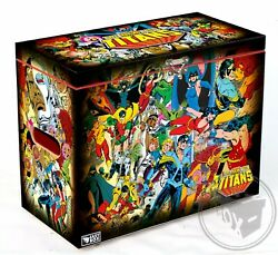 Large Comic Book Hard Storage Box Chest Mdf The New Teen Titans - George Perez