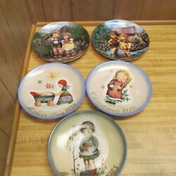 Lot Of 5 Hummel Collector Plates Mothers Day Crossroads Hello Down There Spring