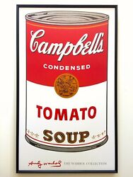 Andy Warhol Foundation Large Framed Iconic Pop Art Poster Campbells Soup 1968
