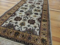3x30 2x30 Rare Size Extra-long Runner Rug Wool Beige Gold Ivory Gray