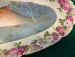 Antique Limited Edition Imperial Limoges Fish Platter