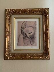 Picasso Limited 104/900lithograph Framed Matted Coa Andldquoinclined Head Of A Womenandrdquo