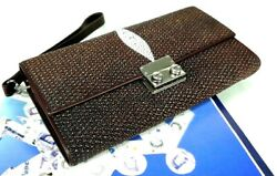 Genuine Stingray Leather Mens Clutch Womens Business ID Cards Trifold Guide Bags