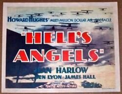 Hell's Angels '30 Tc Howard Hughes Wwi Air Spectacle Jean Harlow Very Rare