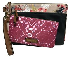 Tommy Bahama Woman#x27;s Clutches Black Multi Color Set of 3 $24.00