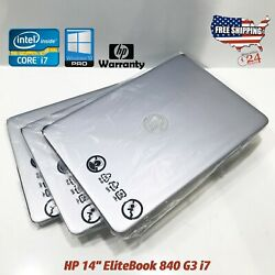 HP Elitebook 840 G3 -CORE I7-6600U- 2.6 GHz -RAM 8GB - 256GB SSD - Sealed Units!