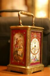 Original Period French Sevres Carriage Clock, 19th Century
