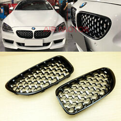 Diamond Style Shiny Black 2012 2017 For BMW 6 Series F06 F12 F13 Front Grille