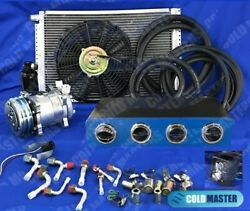 Universal Underdash Air Conditioner A/c Kit 450 14x20 And Elec-harness Blue Chrome