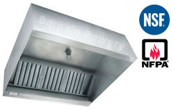 12and039 Ft Restaurant Commercial Kitchen Box Grease Exhaust Hood Type I Hood