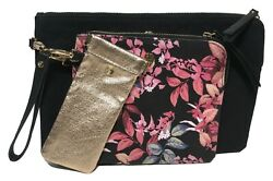 Tommy Bahama Woman#x27;s Clutches Black Multi Color Set of 3 $49.99