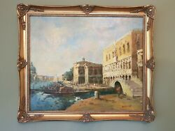 Fine Impressionist Oil Painting Signed Randall Sexton Venice Venitian Italy