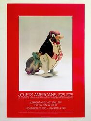 Jouets Americains Rare 1980 Lithograph Print Vintage Toys Exhbtn Museum Poster