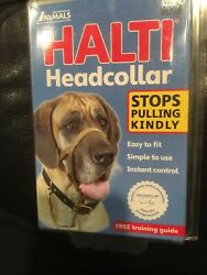 Halti Dog Head Collar Large Breed Dog Size 4 Stop Pulling Kindly Snout Black NEW