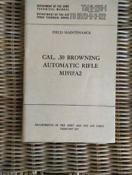 Tm 9-2111-1 Cal 30 Browning Automatic Rifle 1918a2 February 1957 Original Issue