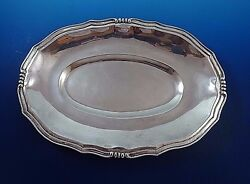 Oval Mexican Sterling Silver Dish Bowl Platter 12 1/2 By 8