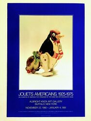 Jouets Americains Rare 1980 Lithograph Print Vintage Toys Museum Exhbtn Poster