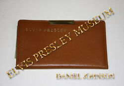 ELVIS PRESLEY OWNED FAMOUS PERSONAL BILLFOLDWALLET WITH PERSONAL HANDWRITING