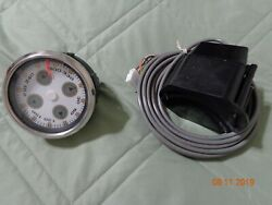 2002 Cobalt Boat Faria Compass Gauge Instrument White Face With Sending Unit
