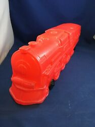 Vintage Marx Plastic Red Train Engine With Train Whistle Sound