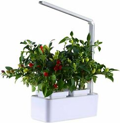 Smart Hydroponics Indoor Herb Garden Kit Mini Plant Grow LED Light-Growing Sys..