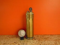 A Brass Wwii Trench Art Cigarette Lighter Made From A 1940 20mm Bullet Casing