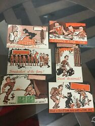 Lot Of 6 Boy Scouts Of American 1947 Unused Post Cards Good Condition