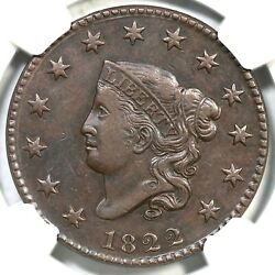 1822 N-4 R-2 Ngc Xf Details Matron Or Coronet Head Large Cent Coin 1c