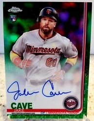 2019 Topps Chrome Green Auto Jake Cave Rc - 82/99 - Twins