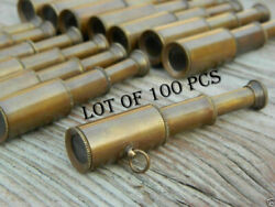 Brass Telescope Key Ring Lot Of 100 Pcs Collectible Marine Antique Finish Gift