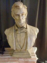 Abraham Lincoln Statue Bust Dated 1909 On Back large BOSTON CO. MELROSE MASS.