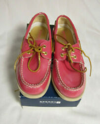 Sperrys Top Spider Girls Size 3.5 --teaberry Color Salmon Red