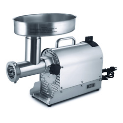 Weston 8 Pro-series 3/4 Hp Electric Meat Grinder - Stainless Steel 10-0801-w
