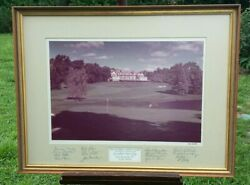 Baltusrol Golf Club 1975 Ann Endres Framed Picture With 16 Signatures