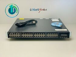 Cisco Catalyst Ws-c3650-48ts-s - 48 Port Ip Base Switch - Same Day Shipping