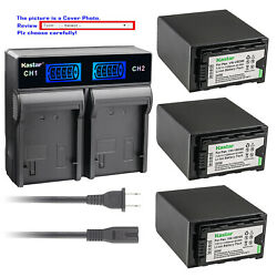 Kastar Battery Lcd Rapid Charger For Vw-vbd98 Vbd98 And Panasonic Aj-px230 Ajpx230