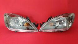 ✰JDM Lancer Cedia Clear Headlights 2004-2007 CS2A CS5W Blackout OEM Stanley✰