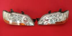 ✰JDM Lancer Cedia Clear Headlights 2001-2003 CS2A CS5W Ralliart OEM Stanley✰