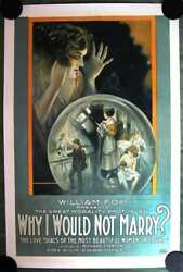 Why I Would Not Marry 1918 Us One Sheet Movie Poster Lb