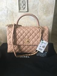 Chanel SOLD OUT 18S Dark Beige  Caviar  Coco Handle bghw