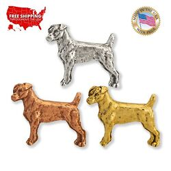 Creative Pewter Designs Jack Russel Terrier Dog Lapel Pin or Tie Tack D406MP