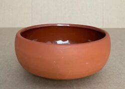 """Vintage Mid Century Red Clay Glazed Cereal/rice Bowl 5.5"""" Dia"""