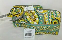 VERA BRADLEY Small Zip Cosmetic Cases Lemon Parfait New with Tag $18.00
