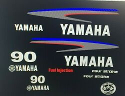 Yamaha 90hp Four Stroke Outboard Engine Decals Sticker Set Reproduction 90 Hp