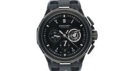 Concord C2 Automatic Chronograph Men's 44 MM Black Rubber Strap Swiss Made Watch