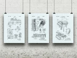 Piano Poster Set Pianist Gift Concert Hall Art Musician Gift Wall Art