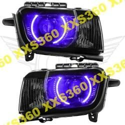 Oracle Halo 2x Headlights Chevrolet Camaro Rs 10-13 Purple Led And Projector Hid