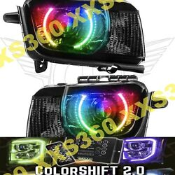 Oracle Halo Headlights Chevrolet Camaro Rs 10-13 Colorshift 2.0 And Hid Projector