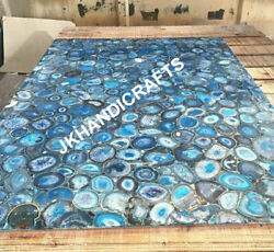 60x36 Marble Dining Table Counter Top Rare Gemstone Inlay Indoor Outdoor Decor